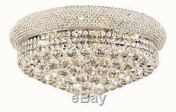 20 10 light Crystal chandelier Flush Mount Light in Chrome Lighting