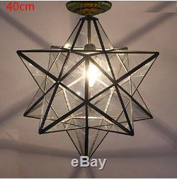 3 TYPE Lighting Flush Mount Iron Wall Lamp Glass Moravian Star CeilingLamp