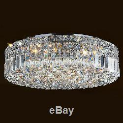 6-Light Chrome Finish D20 x H5.5 Apollo Clear Crystal Ceiling Light Round