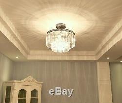 6 lights Modern Crystal Flush mount Chandelier Pendant Ceiling lighting fixture