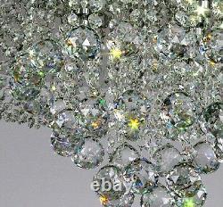 80cm Modern Round LED Crystal Flushmount Ceiling Light Restaurant Pendant Lamp