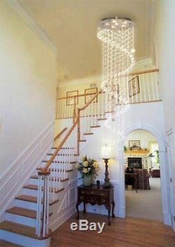 A1A9 Elegant Spiral Crystal Chandelier Lights Clear K9 Crystal Led Ceiling Light