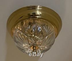AUTHENTIC Waterford Crystal Brass Traditional Chandelier Flush Mount Fixture