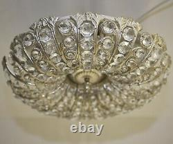 Antik Stil Deckenlampe LED Leuchte Plafoniere Flush Mount Ø40 cm Lüster Crystal