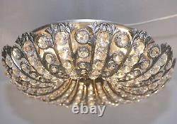 Antik Stil Deckenlampe LED Leuchte Plafoniere Flush Mount Ø45 cm Lüster Crystal
