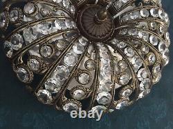 Antique Crystal Plafon, Flush Mount Ceiling Light. 33cm, French/Spanish