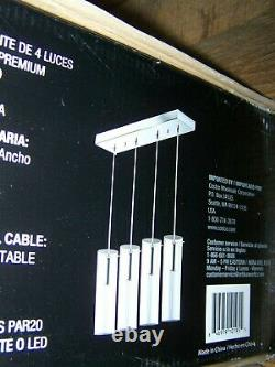 Artika Champagne Glow 4-Light Pendant Chrome Plated Premium Crystal Glass