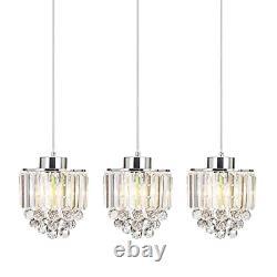 COTULIN Set of 3 Polished Decorative Crystal Pendant Light, Chandelier for Living