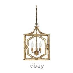 Capital Lighting Blakely 3 Light Foyer, Antique Gold 9481AG