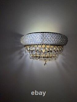 Chandelier Lights And Matching Wall Lights (Crystals)