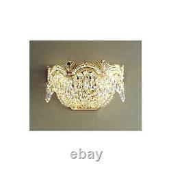 Classic Lighting Regency II Crystal Sconce/WallBracket, 24k Gold Plate 1850GCP