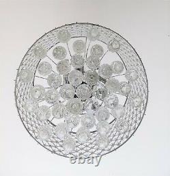 Crystal Ceiling Light, ONLT Modern Style K9 Flush Mount Ceiling Chandeliers