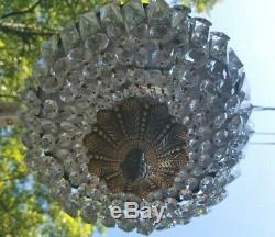 Crystal Chandelier 12 Flush Mount Basket Crystal Chandelier 2-Light Pan