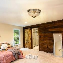 Crystal Chandelier Ceiling Lamp E27 Flush Mount Lighting Fixture Home Decor