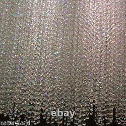 Crystal Chandelier Curtain Pendant Ceiling lamp LED light fixture modern 80cm