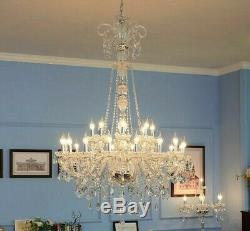 Crystal Chandelier Light Lamps Modern Home Interior Long Stair Lighting Fixtures