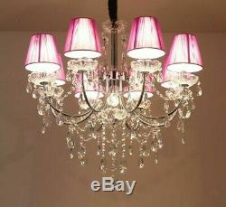 Crystal Chandelier Lights Fixtures LED Modern Flush Mount Touch On/Off Switching