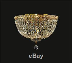 Crystal Flush Mount (D18 x H11) 8-light GOLD Contemporary Ceiling Fixture