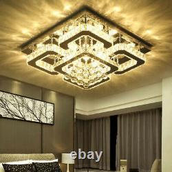 Crystal LED Ceiling Light Crystal Chandelier Modern Flush Mount Light Fixture