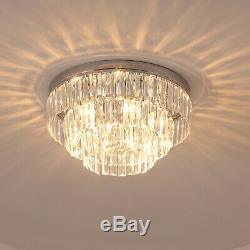 Crystal Light Ceiling Lamp Chandelier Transparent Mount Fixture Living Room