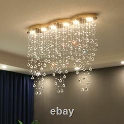 Crystals Chandelier Lights Hotel Luxury Curtain Waves Design Indoor LED Lighting