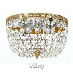 Crystorama 2 Light Clear Crystal Olde Brass Ceiling Mount 710-OB-CL-MWP