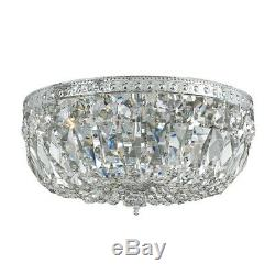 Crystorama 3 Light Clear Hand Cut Chrome Ceiling Mount 12x7' 712-CH-CL-MWP