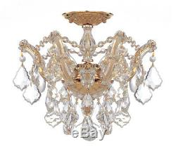 Crystorama 4430-GD-CL-MWP Maria Theresa Hand Cut Crystal Semi Flush Mount Light