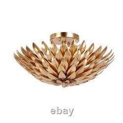 Crystorama Broche 4 Light Antique Gold Ceiling Mount 505-GA