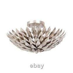 Crystorama Broche 4 Light Antique Silver Ceiling Mount 505-SA