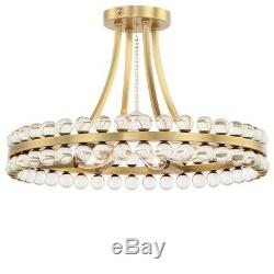 Crystorama Clover 4 Light Ceiling Mount, Aged Brass CLO-8894-AG