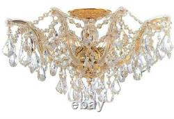 Crystorama Maria Theresa 5 Light Clear Crystal Gold Semi-Flush 4437-GD-CL-MWP