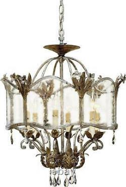 Currey & Company Zara Flush-mount Light Traditional Antique 6-light S