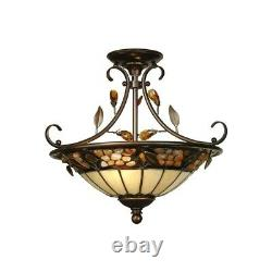 Dale Tiffany Pebble Stone Hanging Fixture TH90218