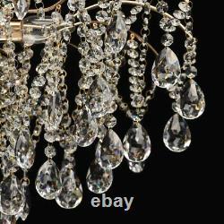 De Markt 6 Light 56cm Semi Flush Mount Ceiling Light Crystal Chandelier Gold