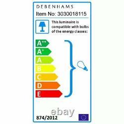 Debenhams Lily Crystal Glass Flush Light