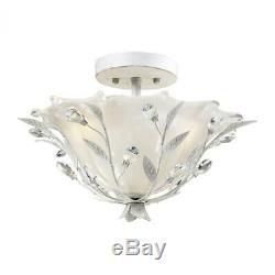 ELK Lighting 18111/2 Circeo 2 Light Semi Flush In Antique White