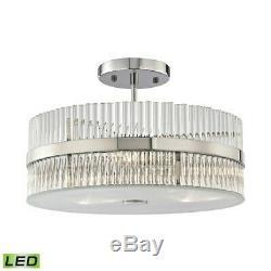 ELK Lighting Nescott 3-Light Semi Flush, Chrome/Crystal Rods, LED 45285-3-LED