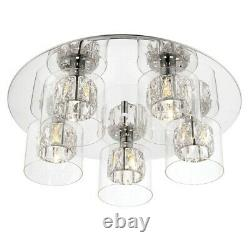 ENDON76517 Verina 5 Light Flush Ceiling Light Chrome Plate CUSTOMER RETURN