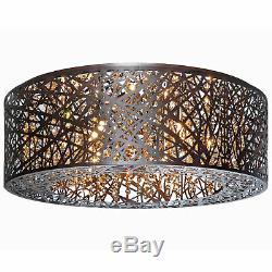 ET2 E21301 Bronze Inca 24 Crystal Ceiling Light With Halogen Bulbs