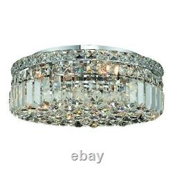 Elegant Lighting 2030 Maxime 5-LT Flush, Chrome/Royal Cut Crystal V2030F16C-RC