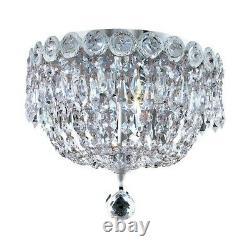Elegant Lighting Century 3 Light Flush Mount, Chrome/Elegant Cut V1900F10C-EC
