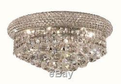 Elegant V1800F14C/RC Primo 6 Light Chrome Flush Mount Clear Royal Cut Crystal