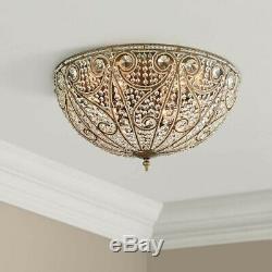 Elizabethan 3-60W Light Flush-Mount Ceiling Fixture, Dark Bronze by Elk Lighting