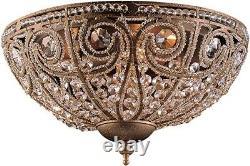 Elk Lighting Crystal Flushmount Ceiling Fixture-Elizabethan Collection- #5962/3