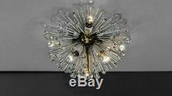 Emil Stejnar Brass Crystal Flushmount or Sconce, circa 1950s