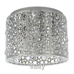 Endon 81974 Fayola Modern Flush Fitting 5 Light Chrome with Clear Crystal