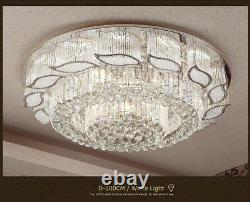 European court style LED K9 Flush Mount crystal ceiling lamps chandeliers lamps