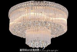 European court style LED chandeliers Flush Mount K9 crystal ceiling lamps #0147