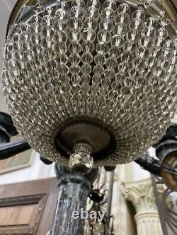 Flush Mount Crystal Ceiling Light Czechoslovakia